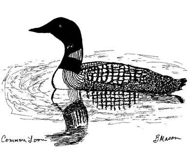 Common Loon Art Print by Becky Mason