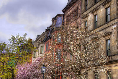 Photograph - Commonwealth Ave Row Houses - Boston by Joann Vitali