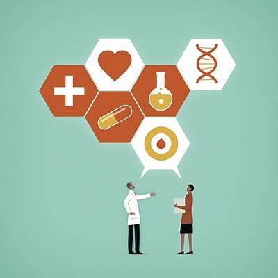 Communication In Healthcare Art Print