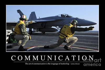Naval Aircraft Photograph - Communication Inspirational Quote by Stocktrek Images