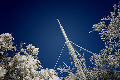 Photograph - Communication Pole Covered With Snow In A Sunny Winter Day by Vlad Baciu