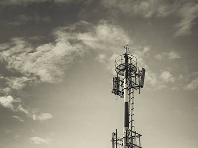 Communication Tower Art Print by Marco Oliveira