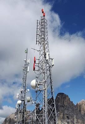 Communications Masts Art Print