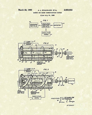 Drawing - Communications System 1960 Patent Art by Prior Art Design