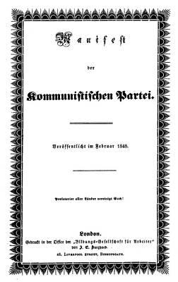 Engel Painting - Communist Manifesto by Granger