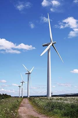 Community Owned Wind Farm Art Print