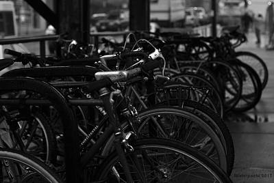 Photograph - Commuter Bicycles by Miguel Winterpacht