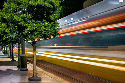 Dallas Commuter Train 052214 Art Print