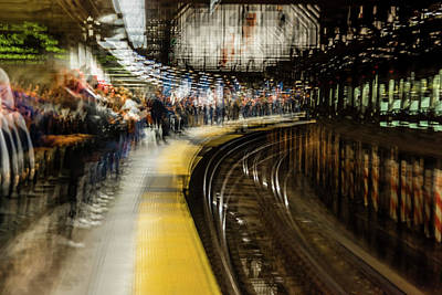 Commuters In Nyc Subway System Art Print