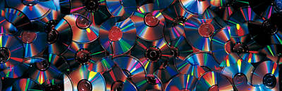 Disc Photograph - Compact Discs by Panoramic Images