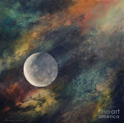 Companion Moon  Art Print by Ursula Freer