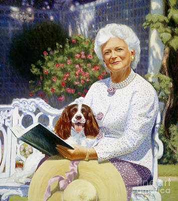 George Bush Wall Art - Painting - Companions In The Garden by Candace Lovely