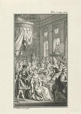 Company At A Banquet, Jacob Folkema Art Print by Jacob Folkema