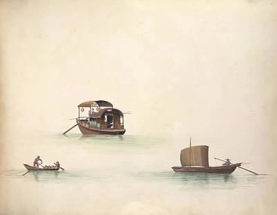 Illustration Technique Photograph - Company Pleasure Boat by British Library