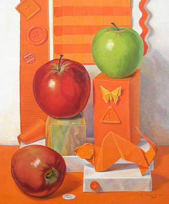 Domestic Car Painting - Comparing Apples To Oranges by Teresa Tromp