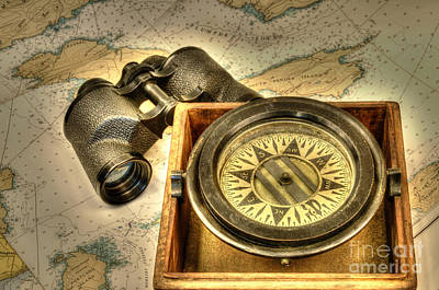 Photograph - Compass 1 by Sarah Schroder