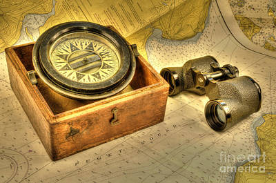 Photograph - Compass 2 by Sarah Schroder