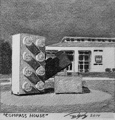 Lego Drawing - Compass House by Tim Murphy