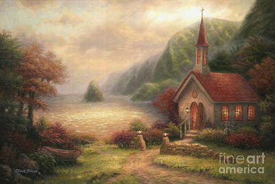Seaside Painting - Compassion Chapel by Chuck Pinson