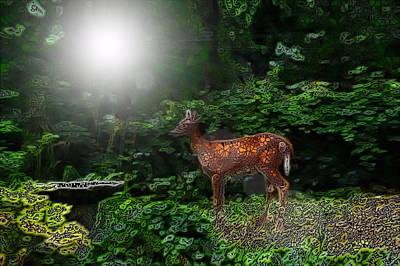Gaia Digital Art - Compassion by E L Papale