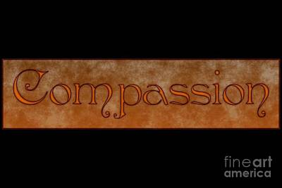 Digital Art - Compassion by Peter R Nicholls