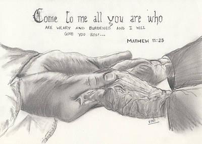 Compassion Art Print by Viny  Mathew