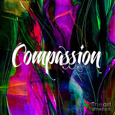 Inspirational Mixed Media - Compassion Wall Art by Marvin Blaine