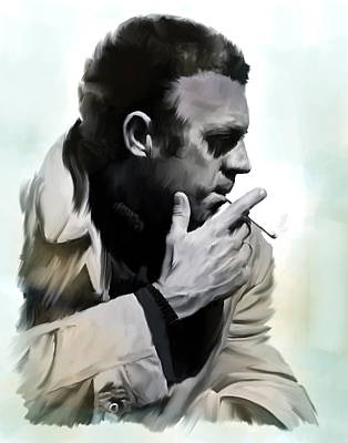 Steve Mcqueen Art Painting - Coolness II  Steve Mcqueen by Iconic Images Art Gallery David Pucciarelli