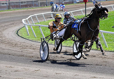 Harness Racing Photograph - Competition by Todd Hostetter