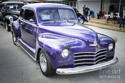 Photograph - Complete 1948 Plymouth Classic Car In Color Of Purple 3387.02 by M K Miller