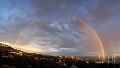 Photograph - Complete Double Rainbow by Rod Jones