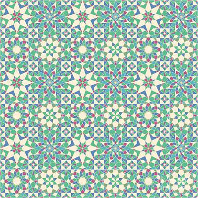 Nature Study Digital Art - Complete Octal Tiling by Cam Macfarlane