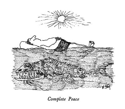 Peace Drawing - Complete Peace by William Steig