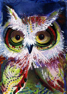 Painting - Complimentary Owl by Laurel Bahe