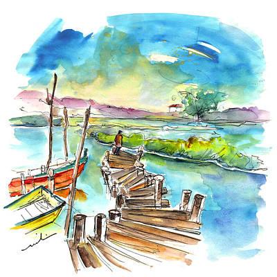 Painting - Comporta Boardwalk In Portugal by Miki De Goodaboom