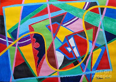 Taikan Painting - Compose An Opera By Taikan by Taikan Nishimoto