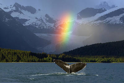 Composite Bright Rainbow Appears Over Art Print