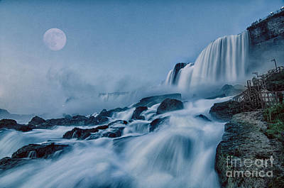 Fantasy Royalty-Free and Rights-Managed Images - COMPOSITE Niagara Super Moon by James Neiss