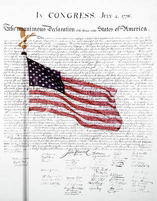 Liberty Painting - Composite Of American Flag by Vintage Images