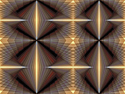 Mathematical Digital Art - Composition 233 by Terry Reynoldson