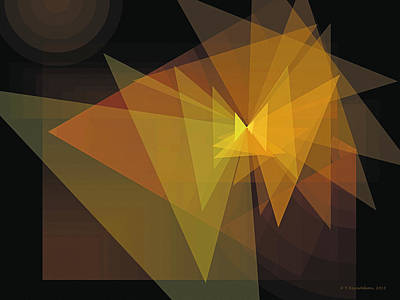 Geometric Art Digital Art - Composition 28 by Terry Reynoldson