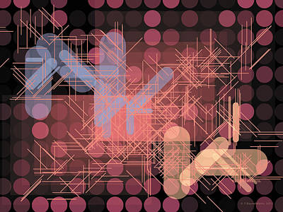 Circle Art Digital Art - Composition 42 by Terry Reynoldson