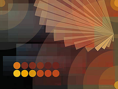 Abstract Design Digital Art - Composition 51 by Terry Reynoldson