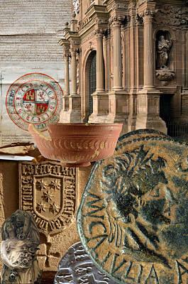 Composition For Poster Xiv Jornadas De Estudios Calagurritanos Art Print by RicardMN Photography