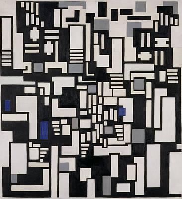 De Stijl Painting - Composition Ix, Opus 18, 1917 by Theo van Doesburg