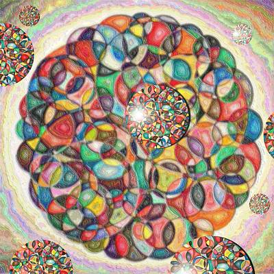 Pastel - Composition Of Circles In Circles by George Curington