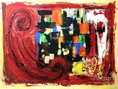 Vanguard Painting - Composition Red by Venus