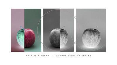 Compositionally Apples Art Print by Natalie Kinnear