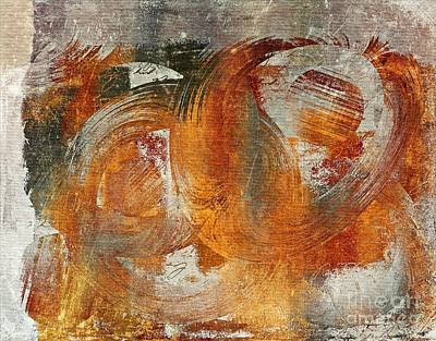 Orange Abstract Art Digital Art - Composix -0229a by Variance Collections