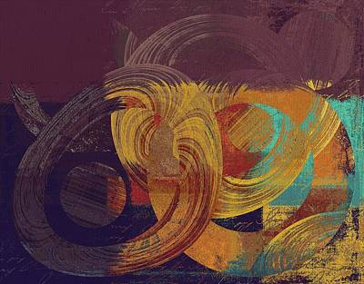 Orange Abstract Art Digital Art - Composix - 164164100a2t1 by Variance Collections